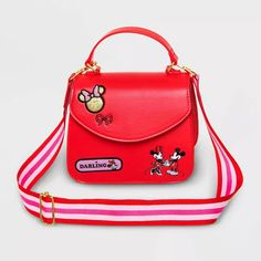 Kids' Minnie Mouse Crossbody Bag - Red - Disney Store : Target