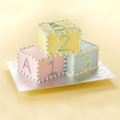 Baby Blocks cake  - perfect for a baby shower!
