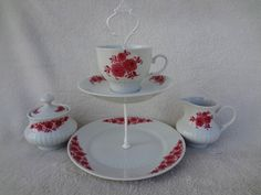 Vintage Bavaria China Stand and Sugar and Creamer by AlayRayVintage on Etsy