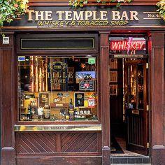 The Temple Bar Whiskey And Cigar Shop - Dublin Print by Barry O Carroll