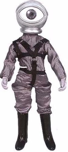 """Fans of the iconic television series """"The Twilight Zone"""" will cherish this sensational collectible character figure from the imaginative early TV series. This figure is called """"The Cyclops"""", an accurate replication from the popular TZ episode entitled """"The Fear."""" Figure comes in an eerie package festooned with Twilight Zone images, and has multiple points of articulation for creative posing."""