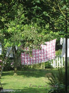 Laundry drying outside. Those were the wonderful days...