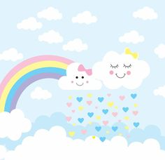 Rainbow and White Cute Clouds Custom Kids Birthday Party Photography Backdrop Photo Background Baby Shower Photo Backdrop Birthday Party Photography, Baby Shower Invitaciones, Baby Shower Photos, Batman Party, Snoopy Christmas, Birthday Background, Rainbow Wallpaper, Bday Girl, Rainbow Birthday