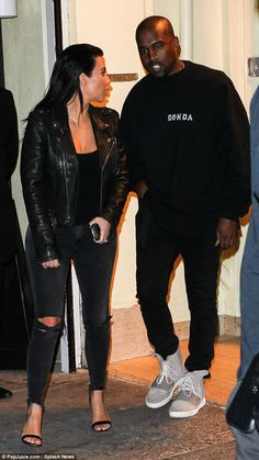 Day-to-night: It appears Kim wore the same outfit throughout the day instead of changing i...