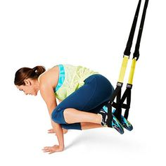 Work your abs and obliques with a TRX strap. Say bye-bye to love handles with the Pendulm exercise!  This is cool!