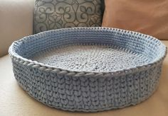 Blue Cat Bed Customized Crochet Boy Cat Small Boy Dog Cave   Etsy Girl Dog Beds, Girl And Dog, Pet Beds, Toy Storage Baskets, Kid Toy Storage, Crochet For Boys, Crochet Pet, Dog Cave, Boy Cat