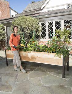 Elevated Cedar Planter Box, 2' x 8'