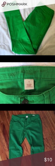 Green Arizona Skinny Jeans Only worn once -- Like new! These jeans are great for St. Patty's Day or to add a burst of color to any outfit!  #skinnyjeans #green #stpaticksday Arizona Jean Company Jeans Skinny