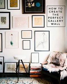 Ever wondered how exactly you get a gallery wall just right? Well, here's how...