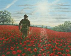 Tommy Richard Harpum [Painting] via /r/Art. Remembrance Day Art, Ww1 Art, Ww1 Photos, History Photos, Royal British Legion, Flanders Field, Lest We Forget, World War One, Military Art