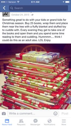 books before christmas. we do this around christmas time at my house! Before Christmas, All Things Christmas, Winter Christmas, Christmas Holidays, Christmas Books, Christmas Countdown, Kids Christmas Gifts, Christmas Ideas For Kids, Christmas Present Parents