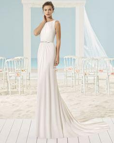 XIMEI vestido de novia Aire Barcelona Beach Wedding 2017