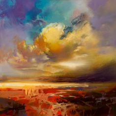 Silver Lining skyscape painting | Scottish landscape painting | Scott Naismith