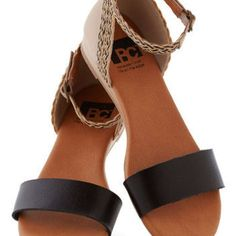 BC Footwear Colorblocking Lakeview Lodge Sandal in Black