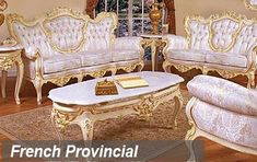 French Provincial Living Room Furniture | Classic Traditional Furniture