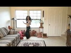Saidi cane dance combination: 3 step turn and hip drops ~ Free belly dance classes online