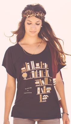 EDUCATION IS FREEDOM. Give 2 kids in Kenya the freedom to learn & the chance to change their future. Each shirt helps! Cool Tees, Cool T Shirts, Boutique, Fashion Advice, Fasion, Style Me, Cool Outfits, Feminine, Kenya