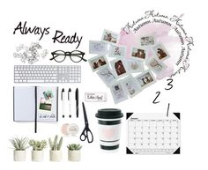 """""""Beiing ready, always ready"""" by mssantos ❤ liked on Polyvore featuring interior, interiors, interior design, home, home decor, interior decorating, Smythson, Allstate Floral, Fresh and Paper Mate"""