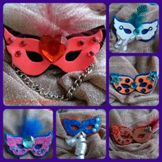 broches de antifaces de carnaval