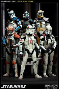 Star Wars Commander Neyo Sixth Scale Figure by Sideshow Coll Star Wars Toys, Star Wars Clone Wars, Star Wars Art, Star Trek, Stargate, Gi Joe, Cinema Art, Maquette Star Wars, Stormtrooper