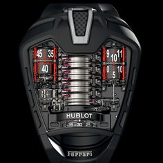 Hublot watch. Ferrari design.  Amazing detail