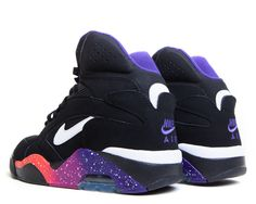 sports shoes f9def 4f231 Shoes - Men - Basketball - Nike Air Force 180 Mid - Black  Purple  Pink -  DTLR - Your Fashion, Your Lifestyle! Shop Sneakers, Clothes and Hats from  Nike, ...