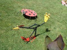 Junk Yards Jacksonville Fl >> Bird Metal Sculpture Yard Bird Shovel Bird Yard Art Garden Art Painted Metal Bird Found Objects ...