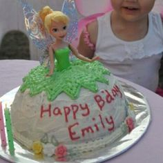 Emily's 2nd birthday tinker belle cake!