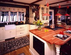 country stylr paintd kitcen cabinets | cabinets-country-kitchen-design-cabinets-style