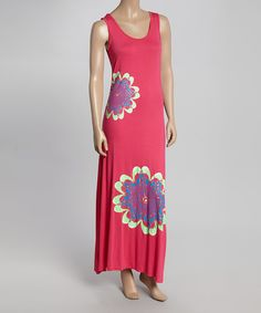 Look what I found on #zulily! India Boutique Fuchsia Floral Maxi Dress by India Boutique #zulilyfinds