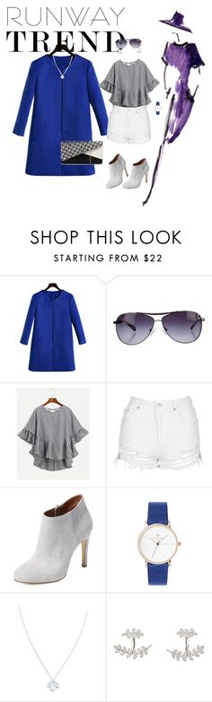 """simple but feeliNg good!"" by sheri-sp ❤ liked on Polyvore featuring Oliver Peoples, Topshop, Elorie, Wolf & Moon, SonyaRenée, Jendi, NYFW, contestentry and runwaytrends"
