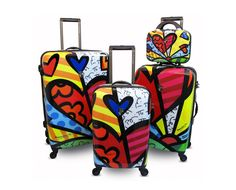 Romero Britto luggage set, and a round the world trip to go with it wouldn't be half bad ;)