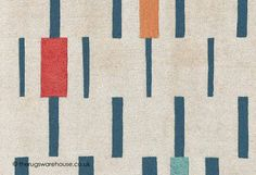 Blok Poppy Rug - texture close up (Scion), a contemporary geometric pattern wool rug (hand-tufted, 100% wool, 3 sizes) http://www.therugswarehouse.co.uk/blok-poppy-rug.html