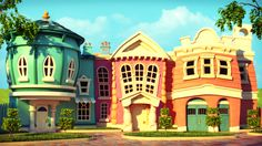 ToonLand by Victor Castro, via Behance