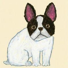 まずは、米津さんのイラストをいくつかご紹介しますね。作品には、動物のモチーフがたくさん描かれています。犬や猫、いろんな鳥、お猿さんやカバまで、本当にさまざまな動物が登場します。米津さんの名前をご存じない方でも、このフレンチブルドッグのイラストを目にしたことがあるかもしれません。