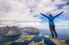 High by Espen Haagensen on 500px... #Kirkefjorden #Lofoten #Magic islands #Magicislands #Northern norway #Norway #Reine #Reinebringen #Summer #View