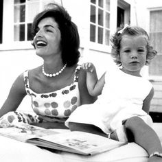 jackandjackie-fanfic: This is probably one of my new favorite photos of Jackie and baby Caroline!♥