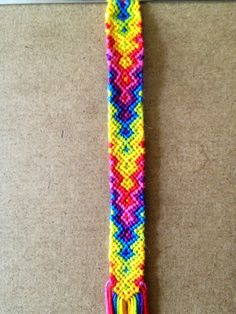 Added by elblair Friendship bracelet pattern 3302. This one is seriously awesome!