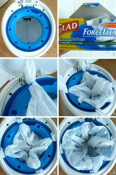 Wish I knew this earlier this morning... DIY diaper genie refills. So simple but so GENIUS! @Katie Coffman