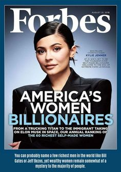 "Kylie Jenner is on the cover of Forbes' ""America's Women Billionaires"" issue, with the magazine reporting that Jenner is the self-made woman in the United States. Some took issue with Forbes for calling Jenner ""self-made. Kim Kardashian, Familia Kardashian, Robert Kardashian, Oprah Winfrey, Kylie Jenner, Danielle Steel, Celine Dion, Personal Branding, Hard Rock"