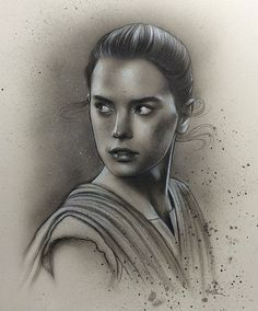 #Rey by #JamesHance  #CoolArt #Art #StarWars #TheForceAwakens #DaisyRidley @daisyridley #SWTFA by geekynerfherder