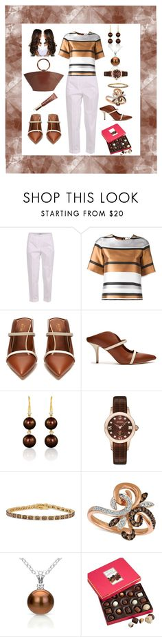 Chocolate Diamonds by marlaj-50 on Polyvore featuring Blugirl, Malone Souliers, The Row, LE VIAN, Accutron by Bulova, DaVonna and Harry London