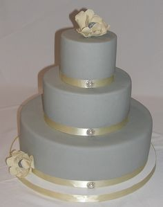 Gray & Yellow Wedding Cake | Flickr - Photo Sharing!