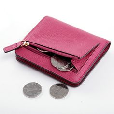 teemzone - Lady Lovely Leather Small Purse with Coin Pokect Multicolor Women Portafoglio Donna Monederos Carteras Hombre J45