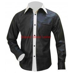 #Leather Shorts With Five Pockets Leder -Shorts mit fünf Taschen