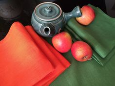 Table Napkin Linen Table Cloth Napkins Natural Eco by MsHomeS