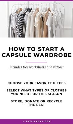 Want to start a Capsule Wardrobe? Check out these actionable tips to create outfits, declutter your wardrobe and always have something to wear. Business Outfits, Office Outfits, Casual Outfits, Casual Office, Office Attire, Minimalist Wardrobe, Minimalist Fashion, Summer Minimalist, Weekend Style