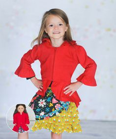 Loving this Red Careli Jacket & Doll Jacket - Infant, Toddler & Girls on #zulily! #zulilyfinds