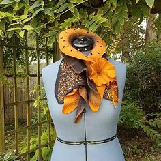 Check out this item in my Etsy shop https://www.etsy.com/listing/550664127/nuno-felted-ruffle-collar-in-burnt