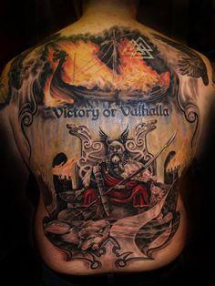 So I heard you love the Vikings! Daddy Tattoos, God Tattoos, Badass Tattoos, Life Tattoos, Body Art Tattoos, Sleeve Tattoos, Tattoos For Guys, Awesome Tattoos, Norse Tattoo